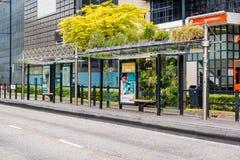 Parada de autobús del verde de Eindhoven Imagen de archivo libre de regalías