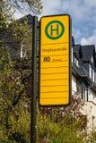 Parada de autobús en Dresden fotografía de archivo libre de regalías