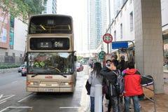 Parada de autobús en Hong-Kong Imágenes de archivo libres de regalías