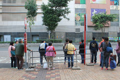 Parada de autobús en Hong-Kong Fotografía de archivo libre de regalías
