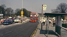 Parada de autob?s de Londres almacen de video