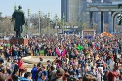 A parada de bolhas de sabão Dreamflash em VDNH Imagem de Stock