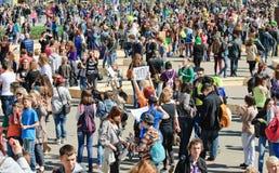 A parada de bolhas de sabão Dreamflash em VDNH Imagens de Stock Royalty Free