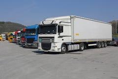 Parada de caminhão foto de stock
