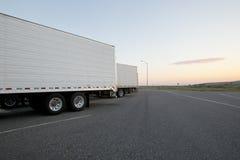 Parada de camiones fotos de archivo