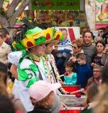 Parada de carnaval 2013 de SANTA CRUZ, SPAIN fotos de stock royalty free