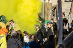 Parada de carnaval Ludwigsburg Neckarweihingen em 2019 /02/24 imagem de stock