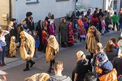 Parada de carnaval Ludwigsburg Neckarweihingen em 2019 /02/24 foto de stock