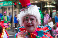 Parada de carnaval principal do Las Palmas Imagem de Stock