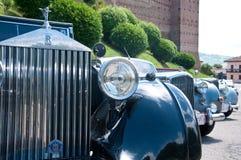 Parada de carros do vintage com jaguar, rolls royce Imagem de Stock