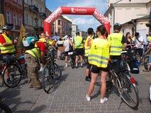 Parada de ciclagem, Lublin, Poland Fotografia de Stock Royalty Free