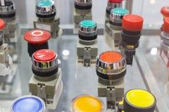 parada de emergência e botões de ligar/desligar Foto de Stock Royalty Free