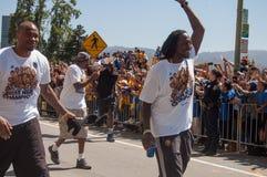 Parada de 2015 guerreiros do campeonato de NBA Fotos de Stock