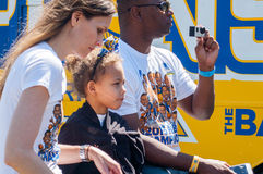 Parada de 2015 guerreiros do campeonato de NBA Fotografia de Stock Royalty Free