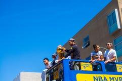 Parada de 2015 guerreiros do campeonato de NBA Imagem de Stock