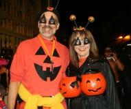 Parada de Halloween em New York City fotos de stock