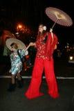 Parada de Halloween em New York City imagens de stock