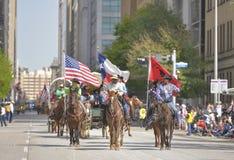 Parada de Houston Livestock Show e do rodeio fotografia de stock
