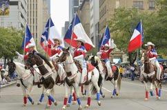 Parada de Houston Livestock Show e do rodeio imagem de stock