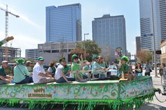A parada de Houston St Patrick Foto de Stock