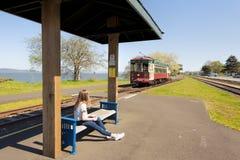 Parada de la carretilla de la costa del ` s de Astoria Oregon fotos de archivo libres de regalías