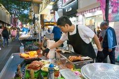 Parada de la comida de la calle fotos de archivo libres de regalías
