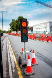 Parada de la luz roja Imagen de archivo libre de regalías