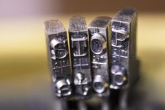 PARADA de la máquina de escribir fotografía de archivo