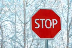 Parada de la señal de tráfico fotografía de archivo libre de regalías