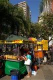 Parada de los alimentos de preparación rápida de la calle Imagen de archivo libre de regalías