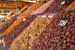 Parada de los frutos secos en Marrakesh Fotografía de archivo