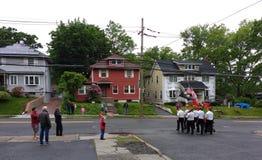 Parada de Memorial Day, EUA foto de stock royalty free