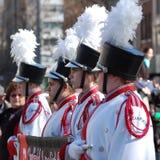 Parada de New York City da banda da High School Fotografia de Stock