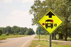 Parada de ônibus escolar Fotografia de Stock