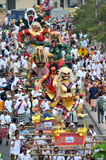 Parada de Ogoh Ogoh comemorada em Eve Of Nyepi Fotografia de Stock Royalty Free