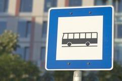 parada de omnibus Fotos de archivo libres de regalías