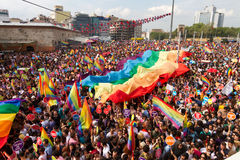 Parada de orgulho de Istambul LGBT Fotos de Stock Royalty Free