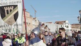 Parada de passeio de Marie do delle de Festa da celebração do carnaval de Veneza, Itália filme