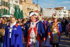 Parada de passeio de Marie do delle de Festa da celebração do carnaval de Veneza, Itália imagem de stock
