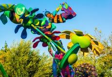 A parada de Pixar da aventura de Califórnia desinseta o tema da vida Fotos de Stock Royalty Free