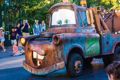 Parada de Pixar do reboque-Mater em Disneylândia Califórnia Fotografia de Stock