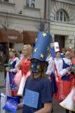 Parada de Schuman em Varsóvia Imagem de Stock