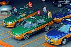 Parada de taxis, Pekín, China Foto de archivo libre de regalías