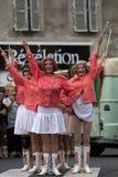 Parada de vestido de majorettes maduros Imagem de Stock Royalty Free