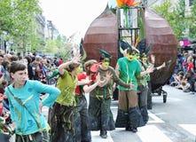 Parada de Zinneke Imagens de Stock