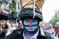 A parada de Zinneke enfrenta 2012 Fotos de Stock Royalty Free