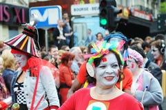 Parada de Zinneke o 19 de maio de 2012 Fotografia de Stock Royalty Free