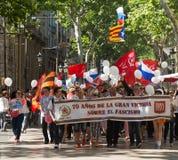 Parada dedicada ao 70th aniversário da vitória do mundo Foto de Stock