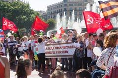 Parada dedicada ao 70th aniversário da vitória do mundo Fotos de Stock Royalty Free