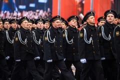 A parada dedicou ao 7 de novembro de 1941 no quadrado vermelho em Moscou 75th aniversário Imagens de Stock Royalty Free